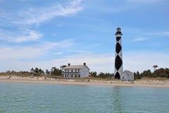 Faro del puesto de observación del cabo en Outer Banks meridional del coche del norte Fotos de archivo libres de regalías