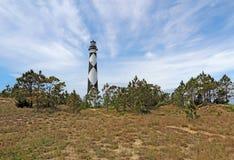 Faro del puesto de observación del cabo en Outer Banks meridional del coche del norte Fotografía de archivo