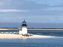Faro del punto del Brant, Nantucket, mA immagini stock