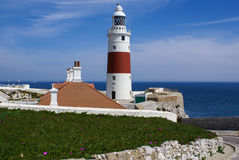 Faro del punto de Europa, Gibraltar Foto de archivo