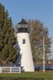Faro del punto de la concordia en Havre de Grace, Maryland Foto de archivo libre de regalías