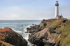 Faro del punto de la paloma, Pescadero, California Imagen de archivo