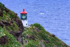 Faro del punto de Makapu'u Fotos de archivo