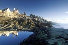 Faro del punto de Pemaquid, YO Fotografía de archivo