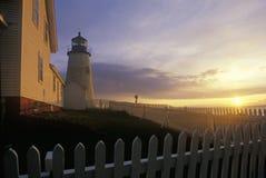 Faro del punto de Pemaquid, YO Imagen de archivo