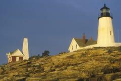 Faro del punto de Pemaquid, YO Fotografía de archivo libre de regalías