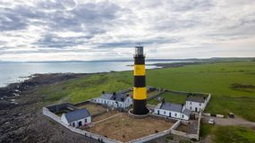 Faro del punto de St John condado abajo Irlanda del Norte foto de archivo libre de regalías