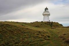 Faro del punto de Waipapa, Nueva Zelanda imagen de archivo
