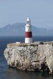 Faro del punto del Europa, Gibilterra Immagini Stock