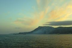 Faro del punto del Gibilterra-Europa Immagini Stock