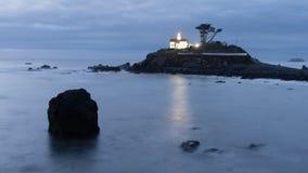 Faro del punto della batteria di Crescent City California Pacific Coast Immagine Stock Libera da Diritti
