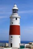 Faro del punto di Europa, Gibilterra Fotografie Stock