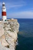 Faro del punto di Europa, Gibilterra Fotografia Stock