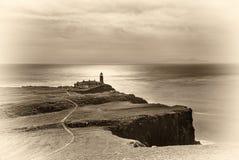 Faro del punto di Neist all'isola di Skye in Scozia Fotografie Stock