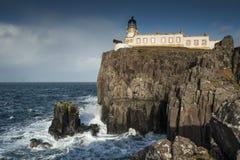 Faro del punto di Neist, Skye Fotografia Stock Libera da Diritti