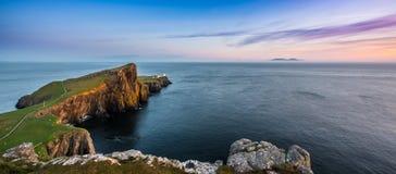 Faro del punto di Neist su Skye fotografia stock