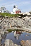 Faro del punto di Pemaquid Fotografia Stock Libera da Diritti