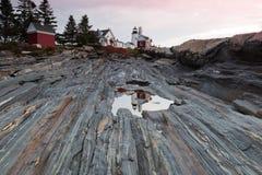 Faro del punto di Pemaquid, Maine, S.U.A. Fotografie Stock Libere da Diritti