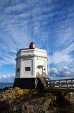 Faro del punto di Stirling, bluff, Nuova Zelanda Immagini Stock