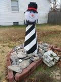 Faro del pupazzo di neve immagini stock libere da diritti