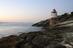 Faro del Rhode Island Fotografia Stock Libera da Diritti