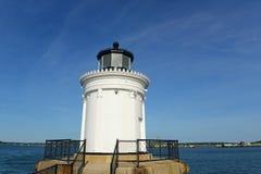 Faro del rompeolas de Portland, Maine Fotografía de archivo libre de regalías