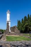 Faro - del Sacramento, Uruguay de Colonia Imágenes de archivo libres de regalías