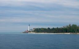 Faro del sud dell'isola di Manitou Fotografia Stock