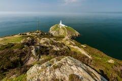Faro del sud della pila, Anglesey Fotografie Stock Libere da Diritti