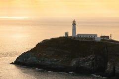 Faro del sud della pila, Anglesey, Galles del nord Fotografia Stock Libera da Diritti