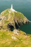 Faro del sur de la pila, Anglesey Fotos de archivo
