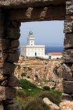 Faro del Testa del Capo in Sardegna Fotografia Stock Libera da Diritti