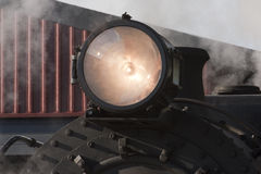 Faro del treno a vapore Fotografia Stock Libera da Diritti