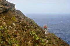 Faro del ` u de Makapu, Oahu fotografía de archivo
