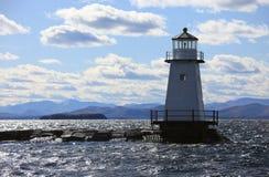 Faro del Vermont Fotografia Stock