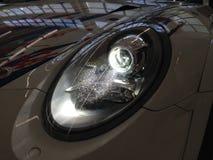 Faro del xeno dalla tazza GT3 991 di Porsche 911 - BUIO immagini stock