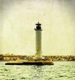 Faro dell'annata Fotografia Stock Libera da Diritti