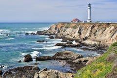 Faro dell'arena del punto, la contea di Mendocino, California fotografia stock libera da diritti