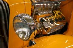 Faro dell'automobile antica fotografia stock