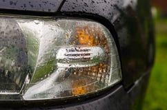 Faro dell'automobile lasciato Immagini Stock Libere da Diritti