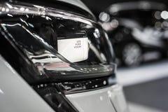 Faro dell'automobile moderna con l'ottica del xeno e piombo Fotografia Stock Libera da Diritti