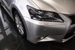 Faro dell'automobile, nuovo Lexus GS 250 Immagini Stock