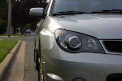 Faro dell'automobile sportiva ed immagine di profilo Immagini Stock Libere da Diritti