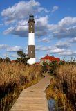 Faro dell'isola del fuoco Fotografia Stock