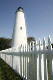 Faro dell'isola di Ocracoke fotografie stock libere da diritti
