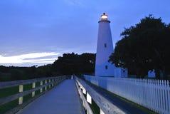 Faro dell'isola di Ocracoke, NC Fotografia Stock