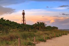 Faro dell'isola di Sanibel, isola di Sanibel, Florida, U.S.A. fotografie stock