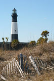 Faro dell'isola di Tybee Immagine Stock