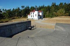 Faro dell'isola di Whidbey Immagine Stock Libera da Diritti