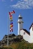 Faro della baia dell'aragosta, Terranova fotografia stock